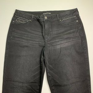 Maurices black stretchy pants size XL